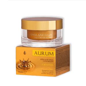 hydratačný tvárový krém aurum s 24-karátovým zlatom