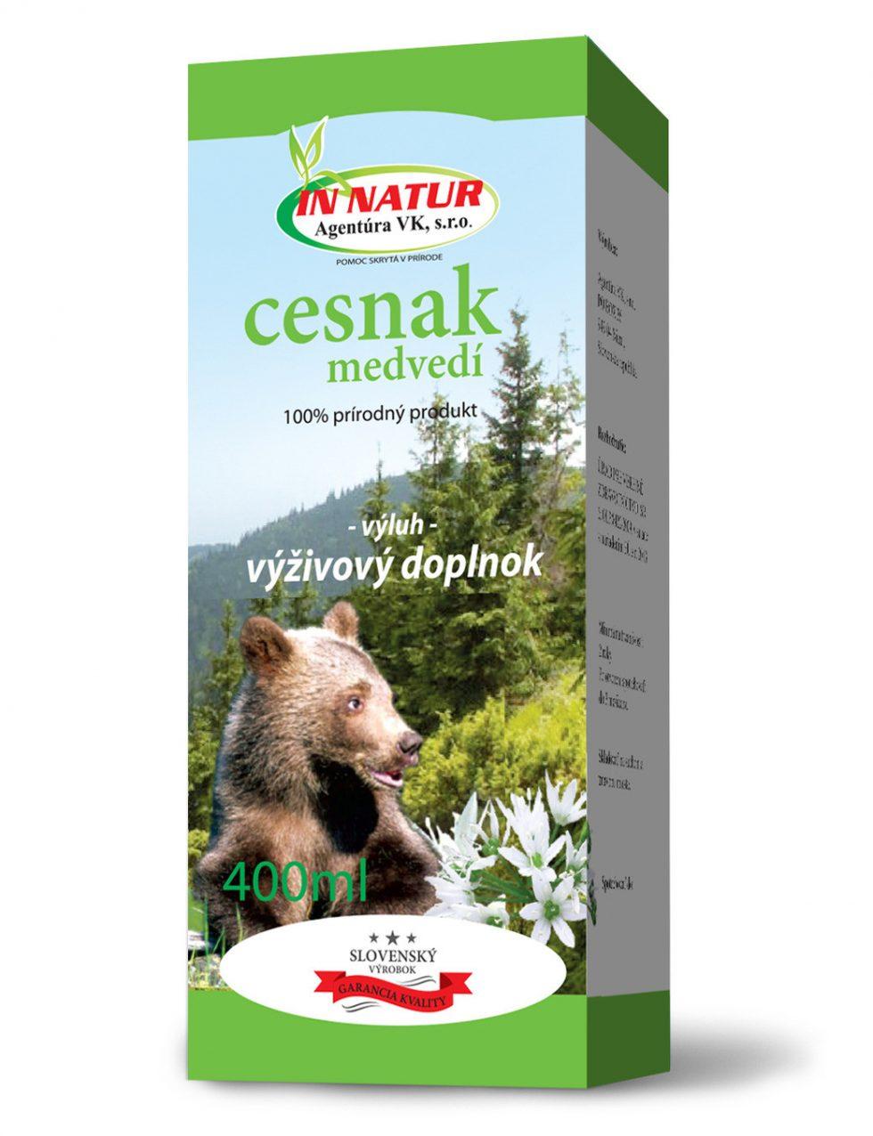 medvedí cesnak výluh 400ml