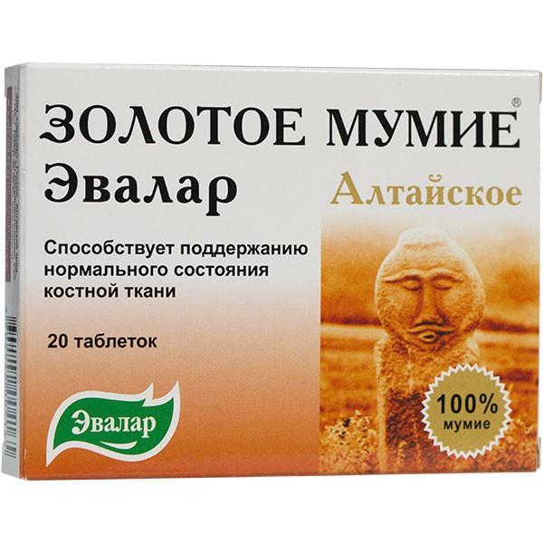 altajské mumio značky avalar 20 tabliet